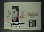 1949 Stromberg-Carlson Television Ad - See it Better Hear it Better