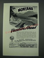 1949 Montana Tourism Ad - Vacation Ahead