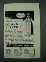 1949 Park Sheraton Hotel Ad - Try Sheraton First