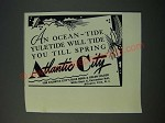 1949 Atlantic City New Jersey Ad - An Ocean-Tide Yuletide