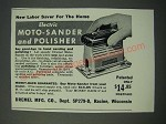 1949 Dremel Electric Moto-Sander and Polisher Ad - Labor Saver