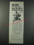 1948 Exercycle Exercise Machine Ad - Action of the Body Muscles