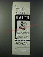 1948 Western Electric Hearing Aids Ad - What Science Now Knows