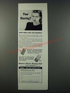 1948 Western Electric Hearing Aids Model 65 & Super 66 Ad - Poor Hearing?