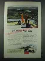 1948 GM General Motors Diesel Locomotive Ad - See America First Class