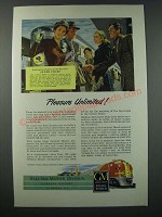 1948 GM General Motors Diesel Locomotive Ad - Santa Fe Super Chief Train