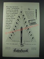 1948 Esterbrook Fountain Pen Ad - Give Them the Best in Writing