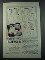 1948 American Stationery Ad