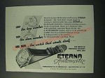 1948 Eterna Automatic Watch Ad - First the Key Winder Then the Stem Winder