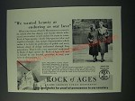 1948 Rock of Ages Ad - We Wanted Beauty as Enduring as Our Love