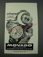 1948 Movado Astrograph Watch Ad - Phases of the Moon