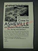 1948 Asheville North Carolina Ad - In the Land of the Sky