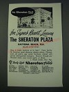 1948 The Sheraton Plaza Daytona Beach, Florida Ad - Try Sheraton First