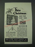 1948 Da-Lite Challenger Screen Ad - This Christmas Make Your Stars Shine