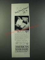 1947 American Stationery Ad - Going Away to School?