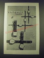 1947 Universal Geneve Watches Ad