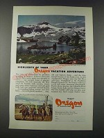1947 Oregon Tourism Ad - Highlights of Your Vacation Adventure