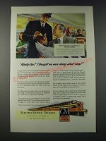 1947 GM General Motors Diesel Locomotive Ad - Panama Limited train