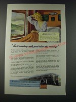 1947 GM General Motors Diesel Locomotive Ad - New York Central Train
