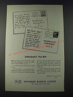 1947 Southern Railway System Ad - Enthusiastic? You Bet!