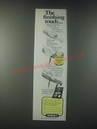 1978 Minwax Wood Finish Ad - The Finishing Touch