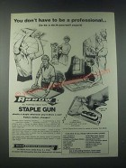 1978 Arrow Model T-50 Staple Gun Ad - Don't Have to Be a Professional
