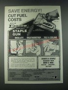 1978 Arrow Model T-50 Staple Gun Ad - Save Energy!