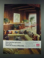 1978 Masonite Tradition II Birch Design Hardboard Paneling Ad