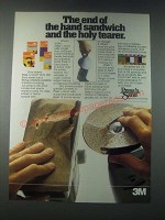 1978 3M Press 'n Sand Ad - The End of the Hand Sandwich