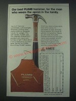 1978 Ames Plumb FA 57 Hammer Ad - Our Best
