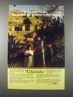 1977 El Salvador Tourism Ad - People Are as Sunny as the Climate