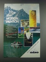 1977 Idaho Tourism Ad - Vacation Variation