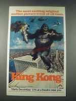 1977 King Kong Movie Ad - The Most Exciting Motion Picture Event of All Time