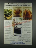 1977 Litton Combination Microwave Range Ad