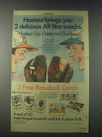 1977 Hostess Cup Cakes and Twinkies Ad - All-Star Snacks