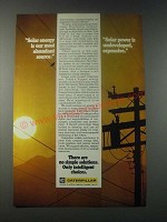 1977 Caterpillar Tractor Co. Ad - Solar Energy is Our Most Abundant Source
