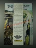 1977 Caterpillar Tractor Co. Ad - Most of Our Roads Need Immediate Work
