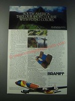 1977 Braniff Airlines Ad - Take Our Short Course with Flying Colors