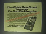 1977 Slim Jim Meat Snacks Ad - Conquers the Horrible Hungries