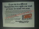 1977 Ramada Inn Ad - If You Stay In a Different Ramada Inn Every Night