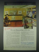 1947 Union Carbide Ad - Without Laboratories Men of Science Are Soldiers