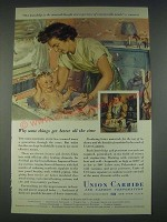 1947 Union Carbide Ad - Our Knowledge is the Amassed Though and Experience