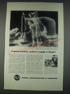 1947 RCA Laboratories Ad - A Sewing Machine Without a Needle or Thread