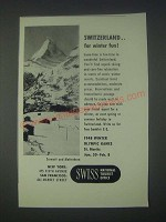 1947 Swiss National Tourist Office Ad - For Winter Fun