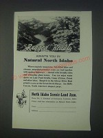 1947 North Idaho Tourism Ad - Rugged Beauty