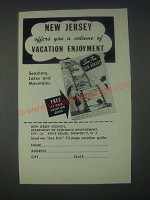 1947 New Jersey Tourism Ad - Volume of Vacation Enjoyment