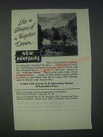 1947 New Hampshire Tourism Ad - Like a Glimpse of a Forgotten Dream