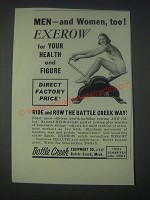 1947 Battle Creek Equipment Co. Exerow Ad - Men and Women, Too!