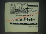 1947 Sheraton Belvedere Hotel Ad - Harbor on the Patapsco