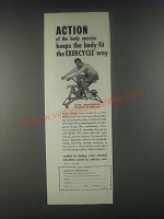 1946 Exercycle Corporation Ad - Action of the Body Muscles